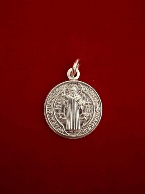 Medalla San Benito en plata La Casa Del Cofrade