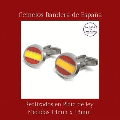 Gemelos Bandera de España ovalado