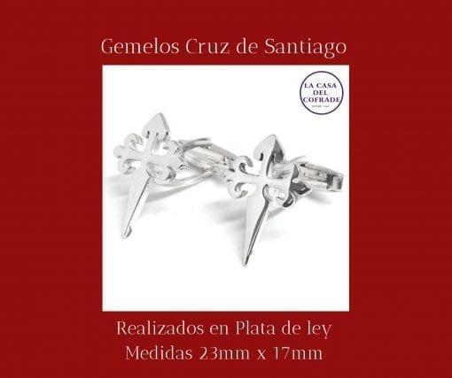 Gemelos cruz de Santiago Regalos Cofrades Tienda Cofrade La Casa Del Cofrade