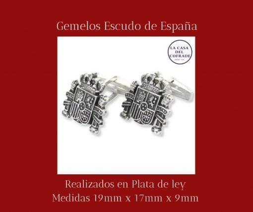 Gemelos escudo de España Regalos Cofrades Tienda Cofrade La Casa Del Cofrade