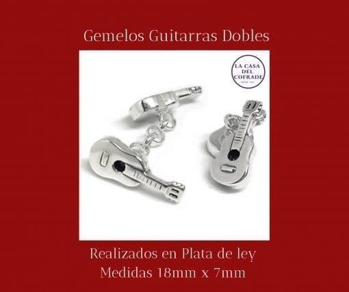 Gemelos guitarras dobles Regalos Cofrades Tienda Cofrade La Casa Del Cofrade