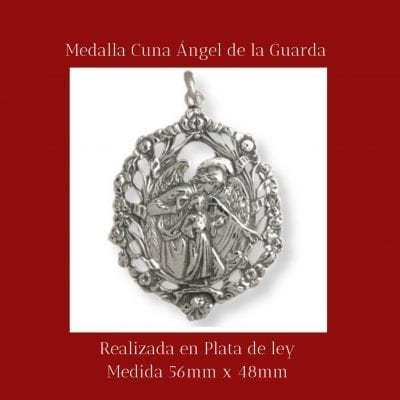 Medalla cuna Angel de la guarda