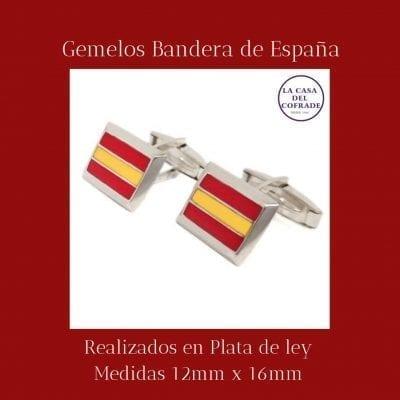 Gemelos Bandera de España Regalos Cofrades Tienda Cofrade La Casa Del Cofrade
