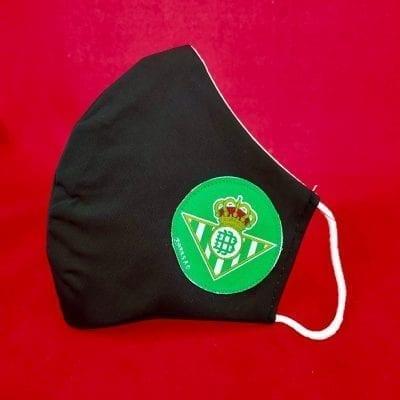 Mascarilla negra Real Betis. La Casa Del Cofrade