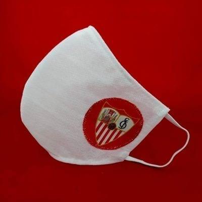 Mascarilla Sevilla FC en blanco