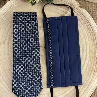 conjunto de corbata y mascarillas de círculos La Casa Del Cofrade