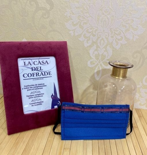 Mascarilla escocesa en azul cobalto La Casa Del Cofrade