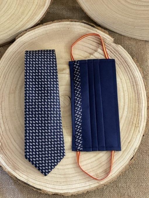Conjunto mascarilla y corbata gota de agua la casa del cofrade