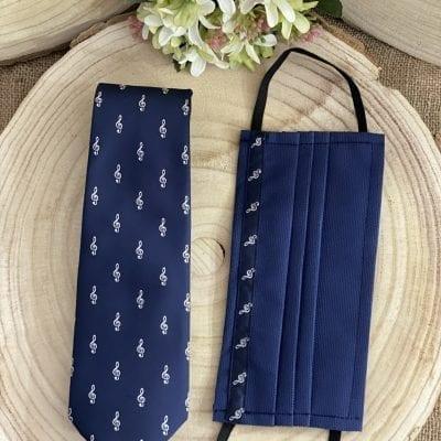 corbata y mascarilla la clave de sol La Casa del Cofrade