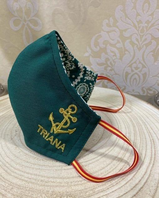 mascarilla reversible personalizada ancla de Triana.La Casa Del Cofrade