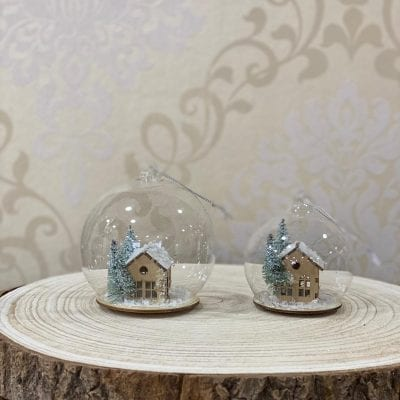 Bola Cristal Casa de Navidad