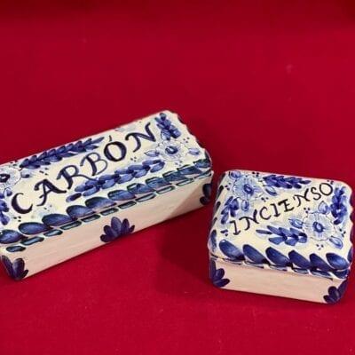 Caja ceramica para carbon e incienso